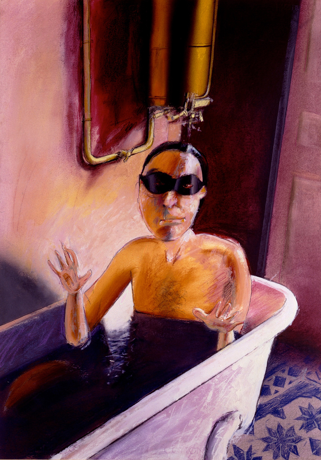 Self portrait in the bathtub